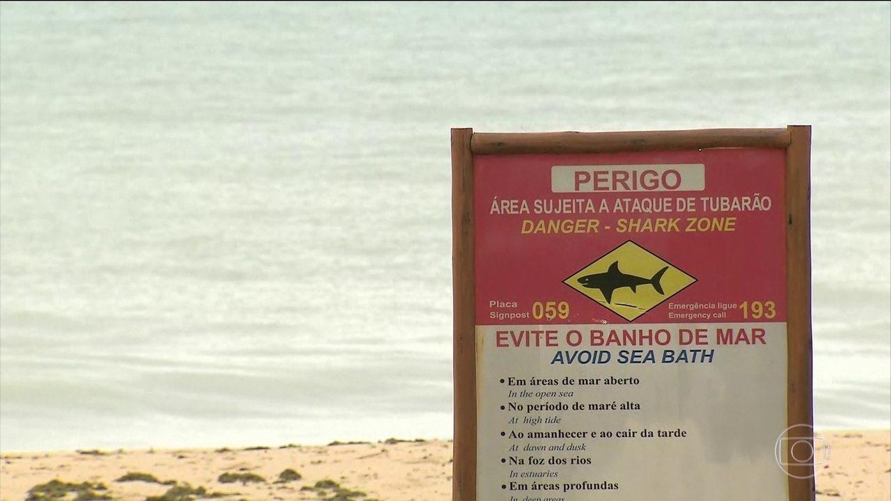 É grave o estado de saúde do banhista atacado por um tubarão em Pernambuco