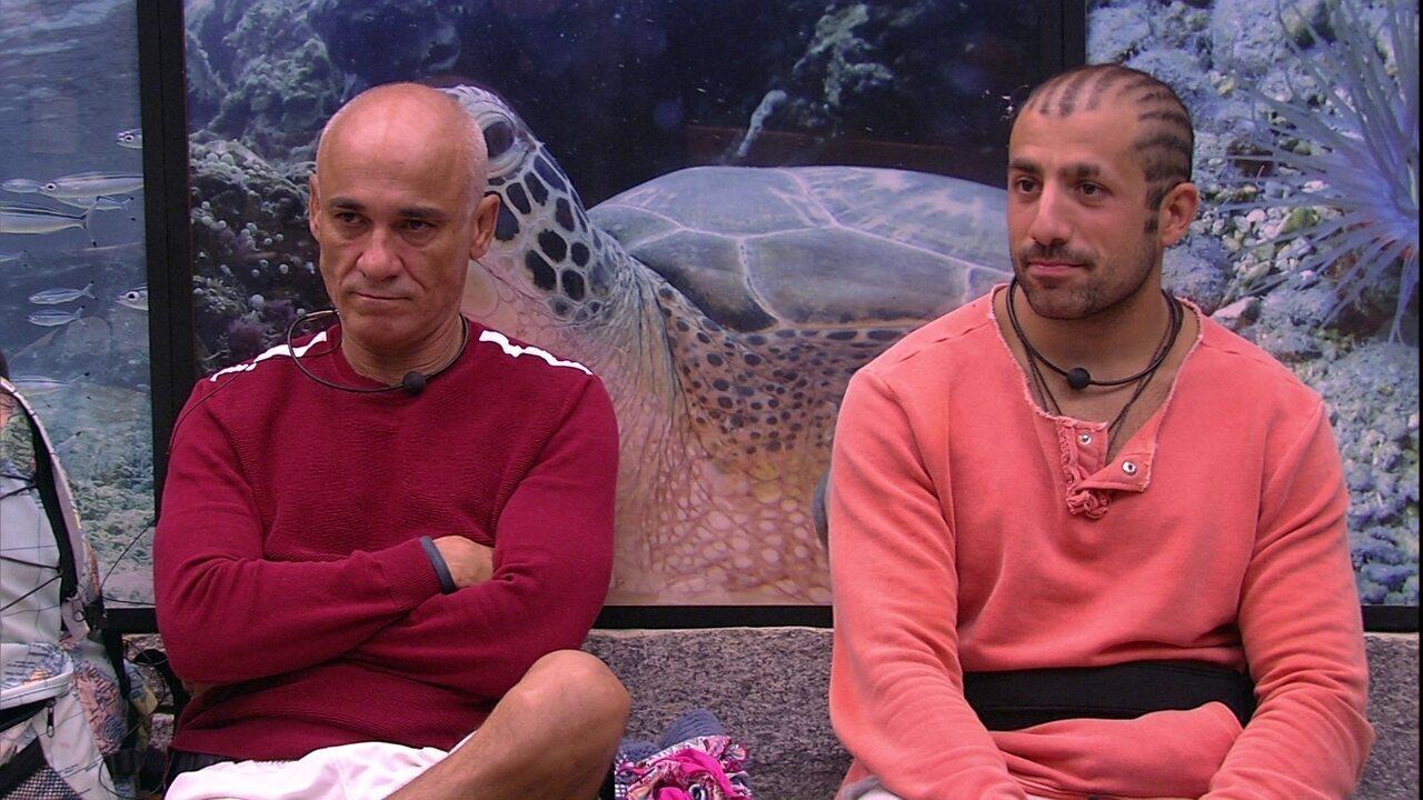 Paula, Kaysar e Ayrton especulam Prova de resistência