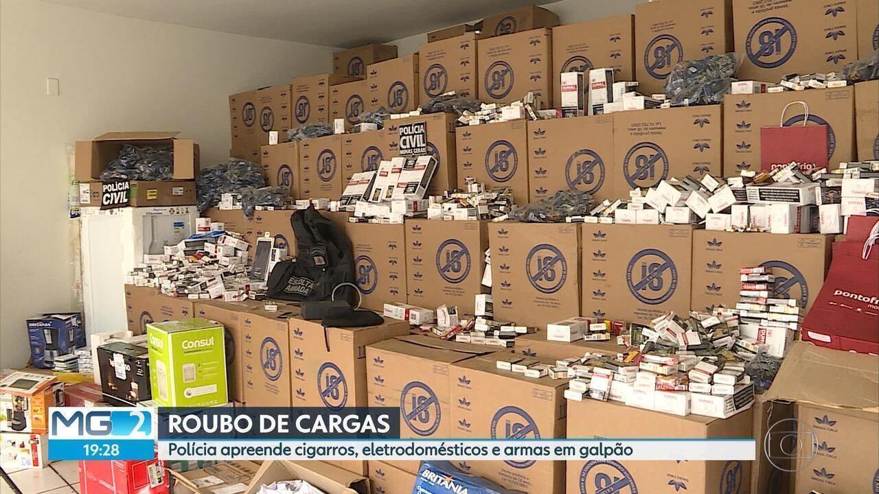 Polícia apreende mais de R$ 3 milhões em produtos dentro de galpão, na Grande BH