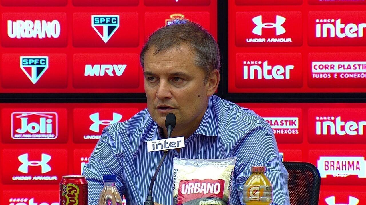 Veja o que falou Diego Aguirre depois da vitória do São Paulo sobre o Paraná