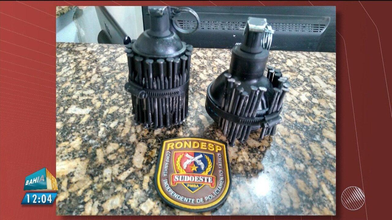 Bandidos são presos suspeitos de tentar jogar granada em presídio de Vitória da Conquista