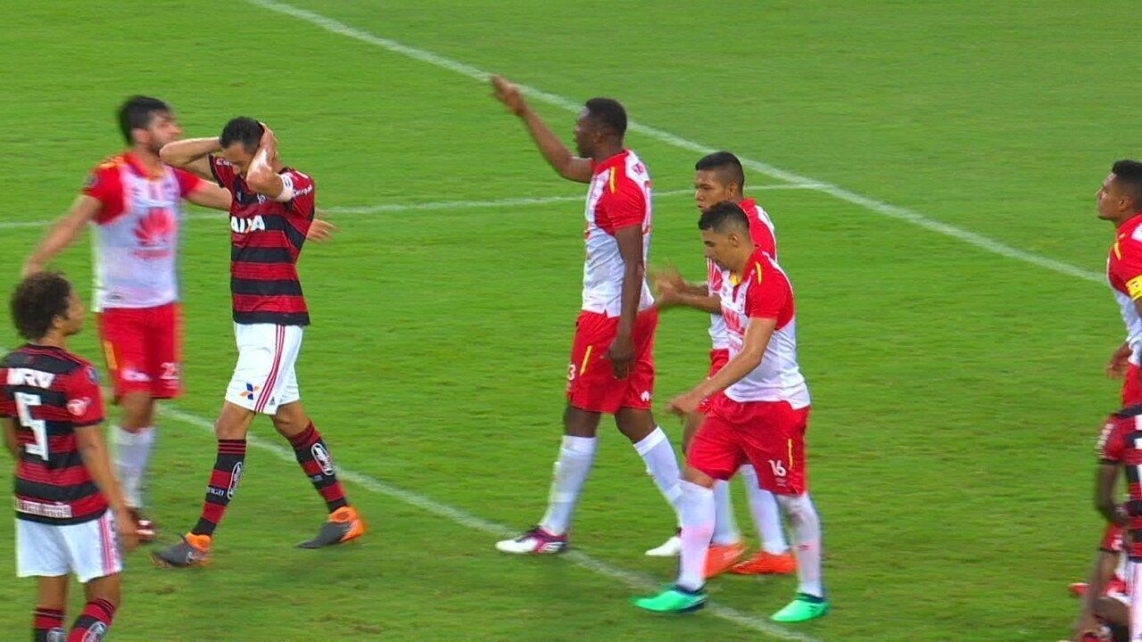 Melhores momentos de Flamengo 1 x 1 Santa Fe, pela Libertadores 2018