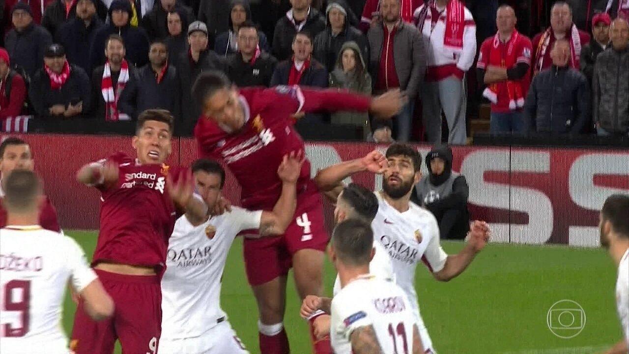 972d2f11a9 Melhores momentos  Liverpool 5 x 2 Roma pela semifinal da Liga dos Campeões  da Uefa