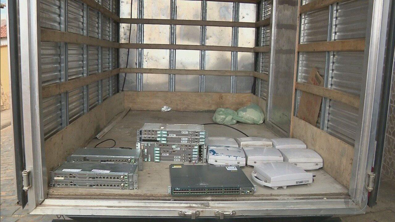 Polícia investiga esquema de receptação ilegal de equipamentos de telefonia no Sul de MG