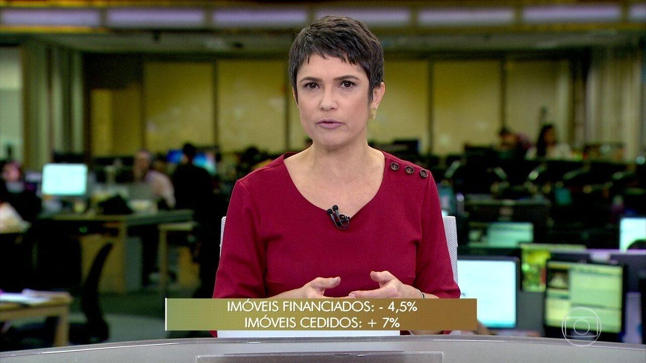 IBGE mostra redução dos imóveis financiados e aumento dos emprestados