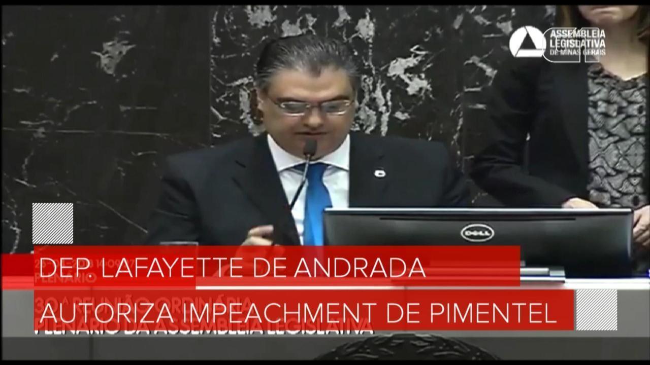 Assembleia de MG autoriza processo de impeachment contra Pimentel