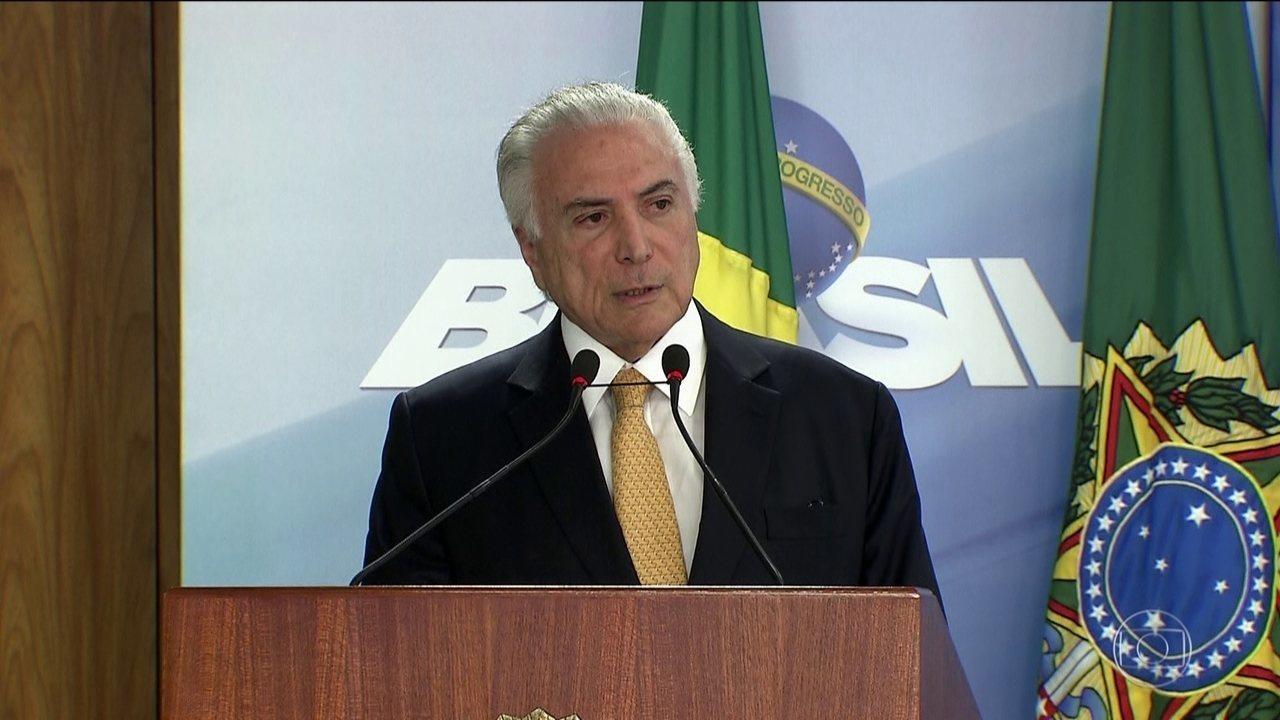 Temer faz pronunciamento para se defender de investigações — Brasil