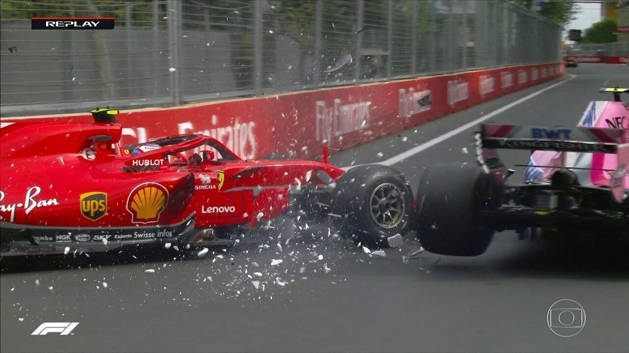 Sirotkin e Ocon abandonam na primeira volta do GP do Azerbaijão