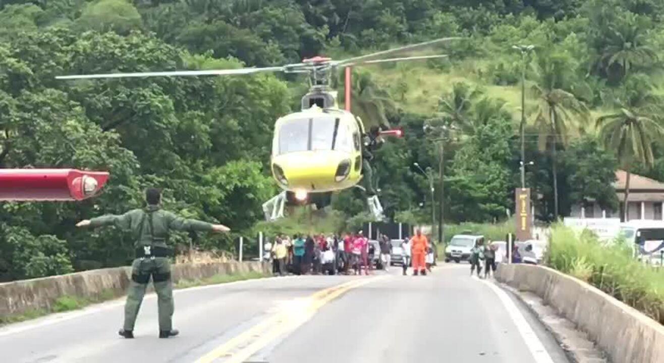 Aeronaves foram direcionadas até o local do acidente em Santa Luzia do Norte