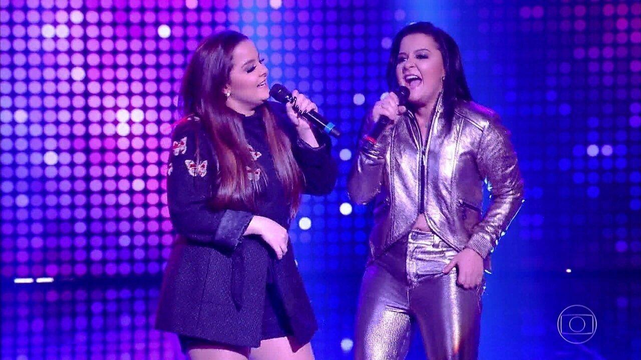 Maiara e Maraisa cantaram no palco do ´Tamanho família´