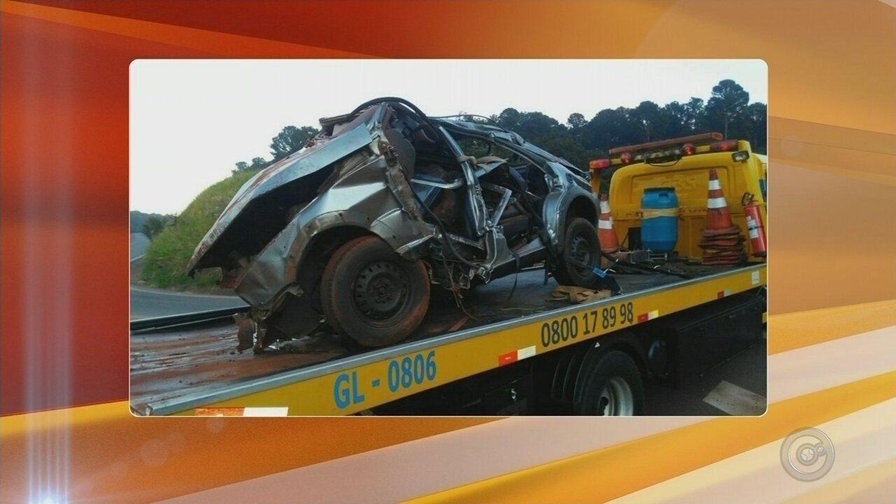 Vítima de acidente em Pederneiras morre após ser transferido para hospital em Bauru