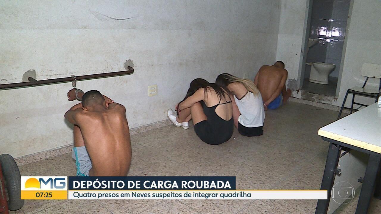 Polícia prende suspeitos de tráfico de drogas e receptação em Ribeirão das Neves