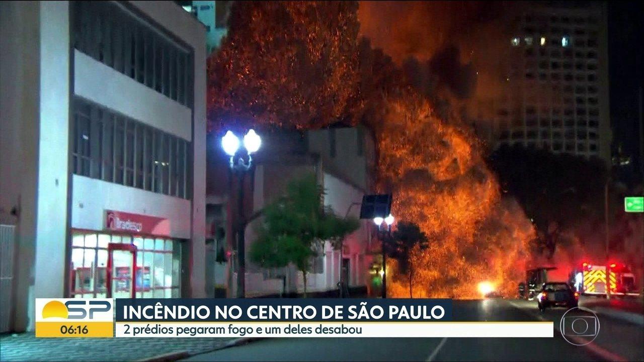 Moradores de prédio tomado pelo fogo relatam momentos de pânico