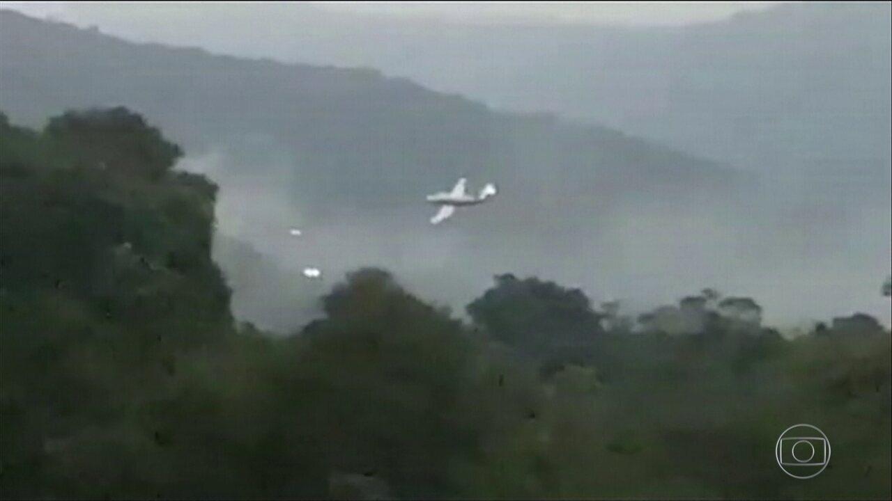 Aeronave cai em Ubatuba, litoral de SP