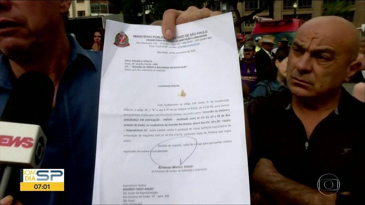 Ministério Público descartou interditar prédio que desabou