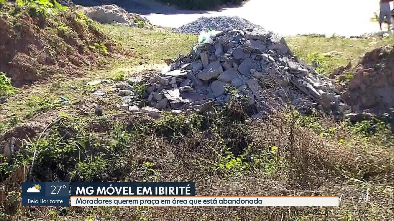 População pede revitalização de área que poderia ser uma praça em Ibirité