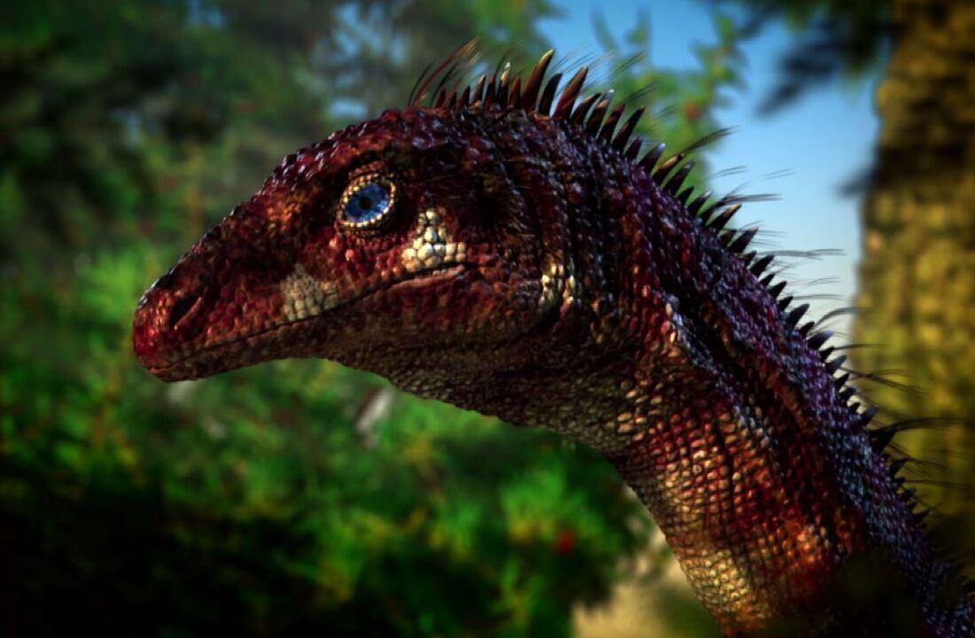 Dinossauros e animais extintos são criados por paleoartista.