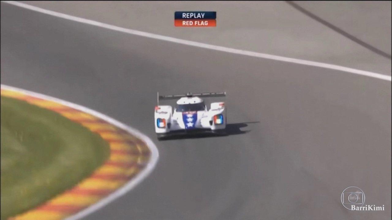 Pietro Fittipaldi sofre sério acidente em treino classificatório na Bélgica