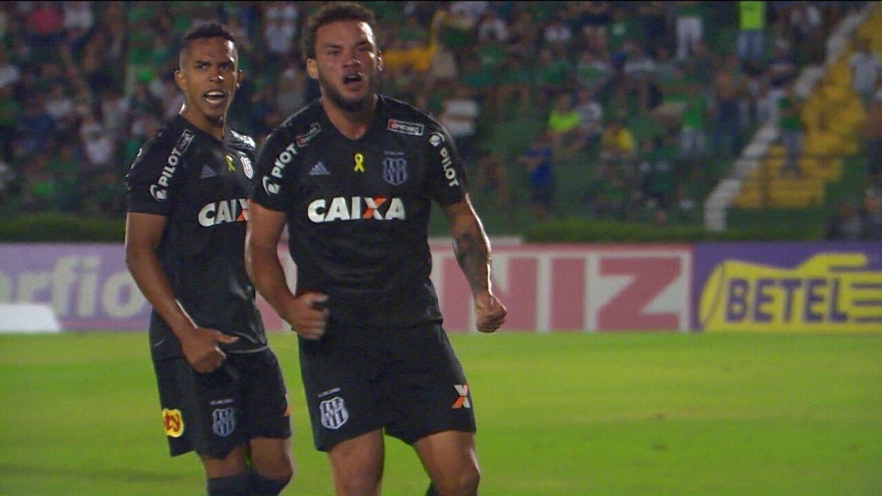 Os gols de Guarani 2 x 3 Ponte Preta pela 4ª da Série B do Brasileiro