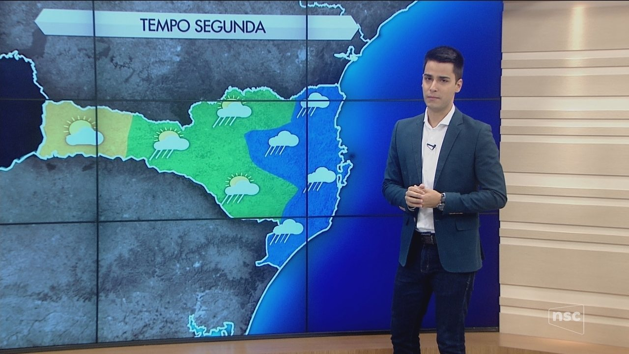 Semana inicia com céu nublado na Serra e no Litoral catarinense