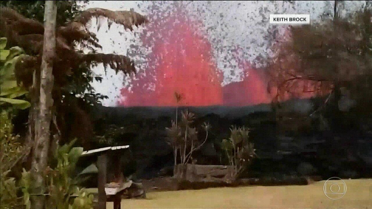 Governo do Havaí alerta para retirada em massa por conta da erupção do vulcão Kilauea