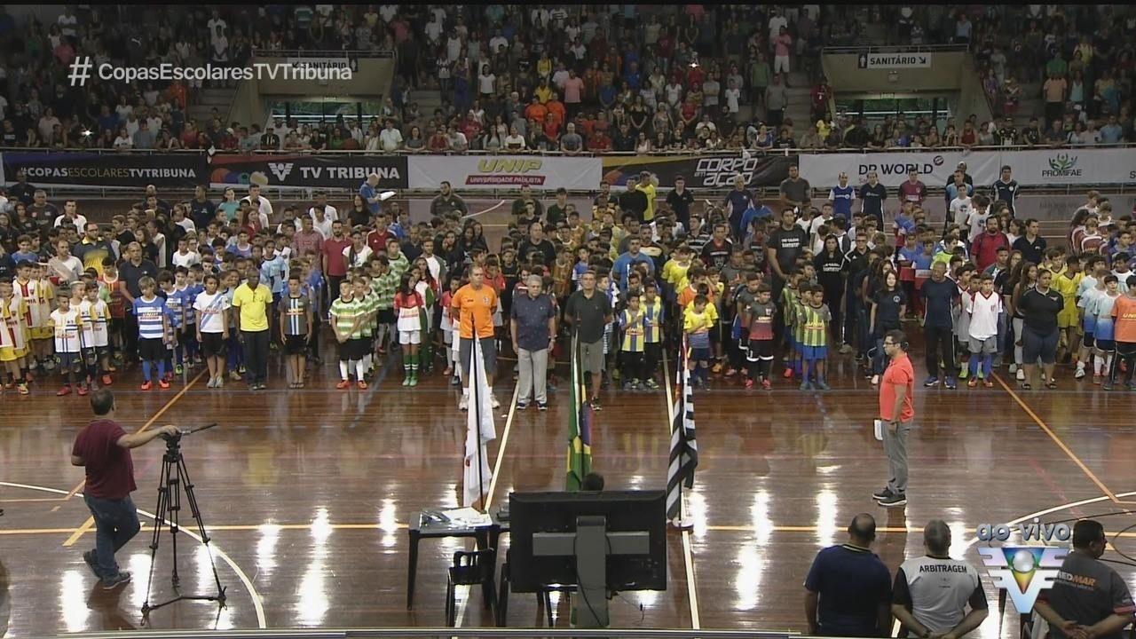 Abertura da 16ª Copa TV Tribuna de Futsal Escolar