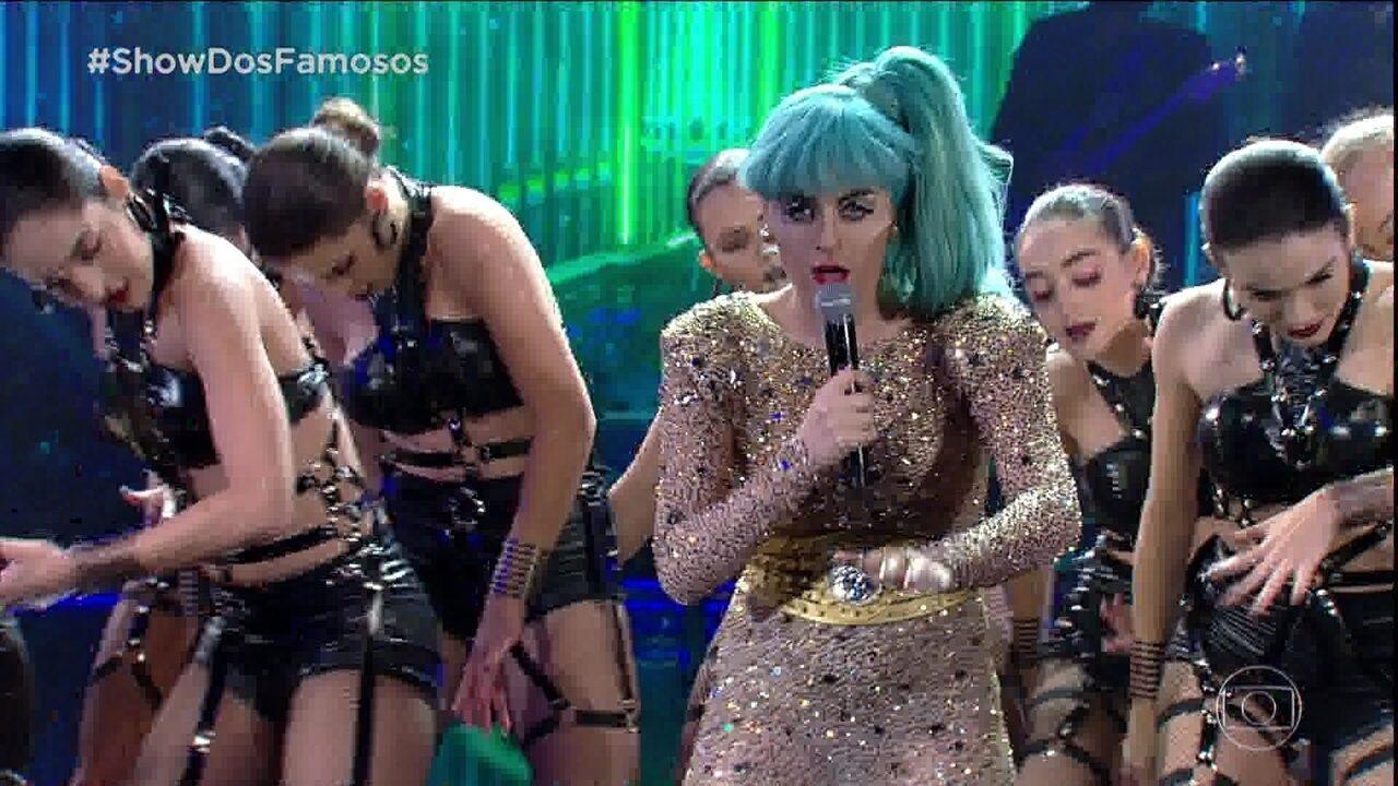 Alessandra Maestrini interpreta Lady Gaga no Show dos Famosos