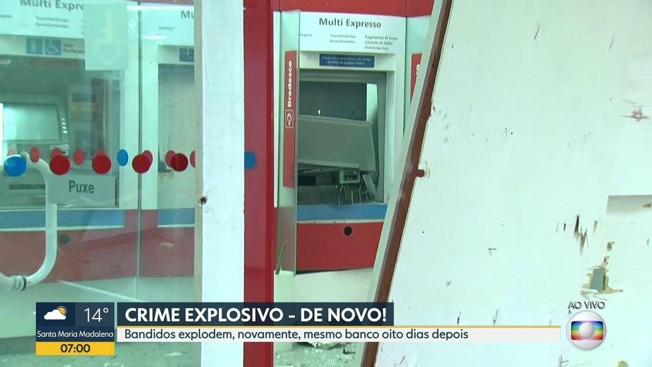 Assaltantes explodem caixa eletrônico no Rio de Janeiro