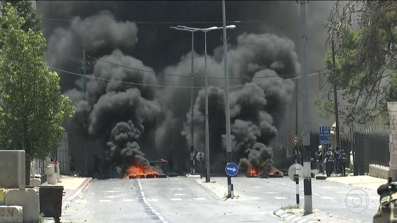 Palestinos voltam a protestar contra Israel