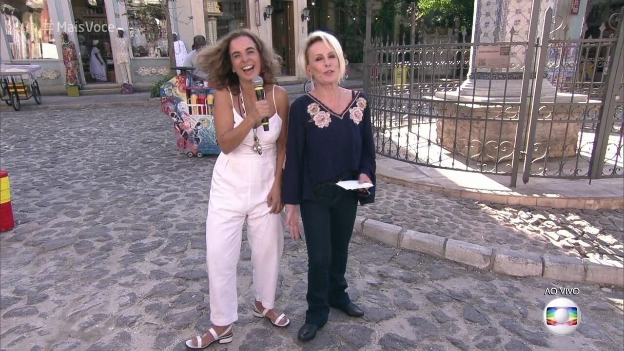 Maria de Médicis guia Ana Maria pela cidade cenográfica de 'Segundo sol'