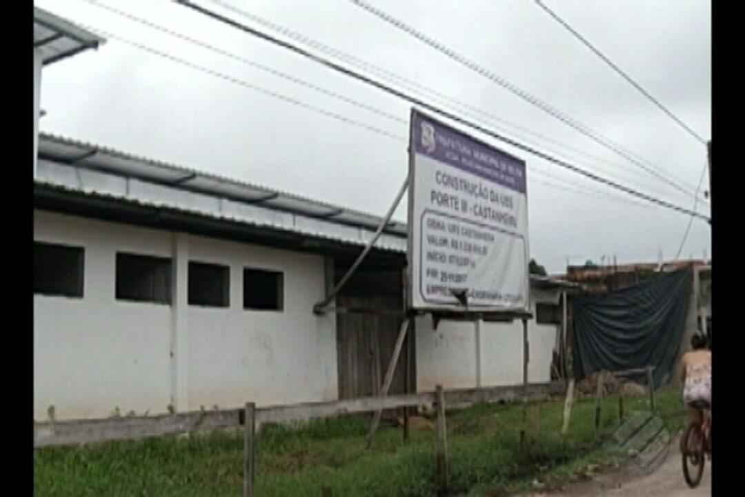 População denuncia a paralisação de obra da Unidade Básica de Saúde no Castanheira