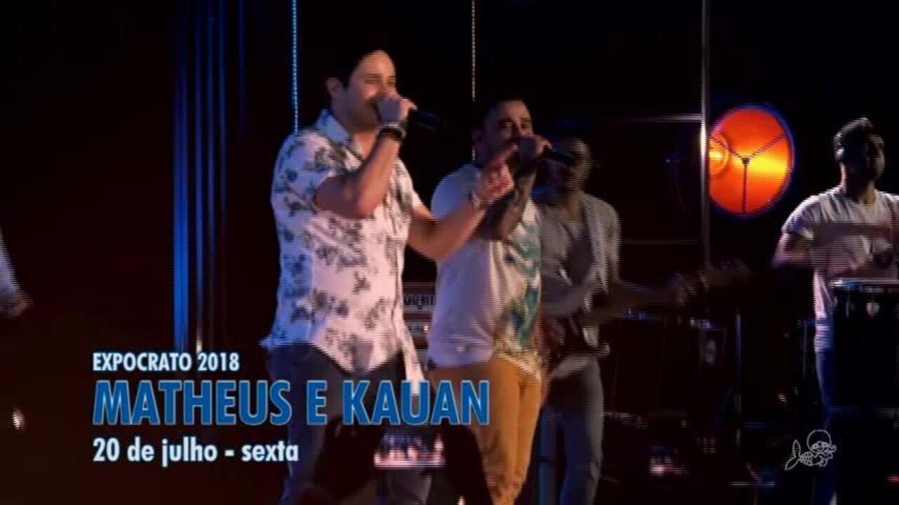 Fagner, Luan Santana e Aviões fazem show na Expocrato 2018