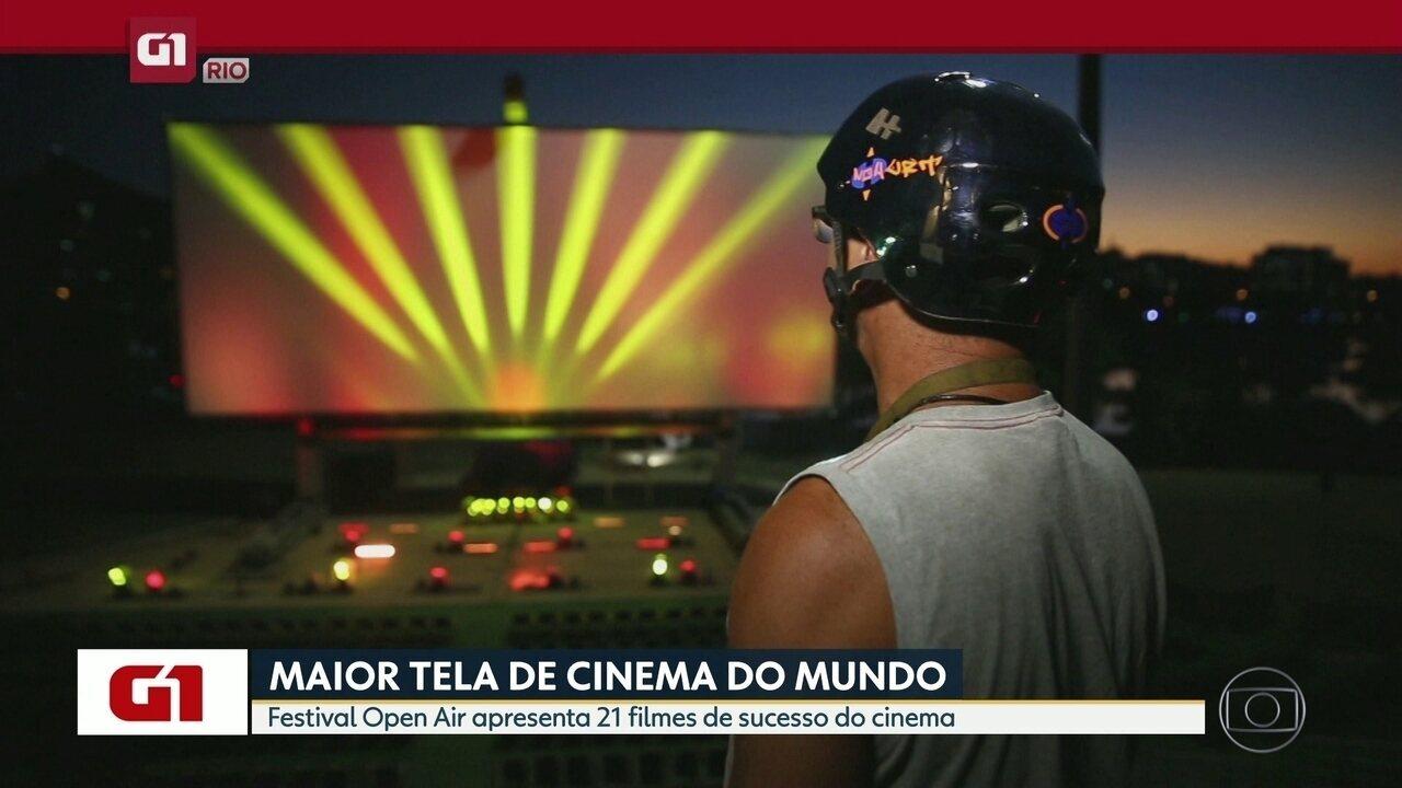 G1 do Bom Dia Rio: Festival Open Air apresenta 21 clássicos e sucessos do cinema