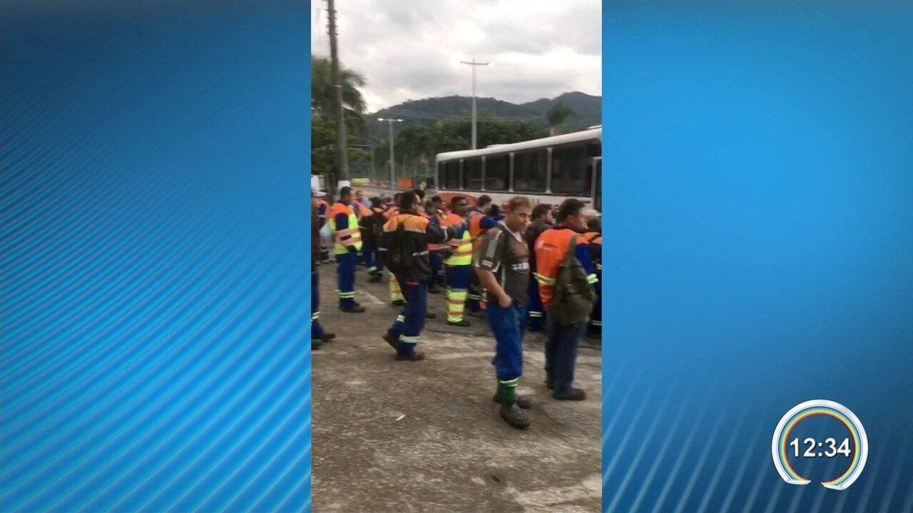 Funcionários da obra do contorno no litoral norte entraram em greve