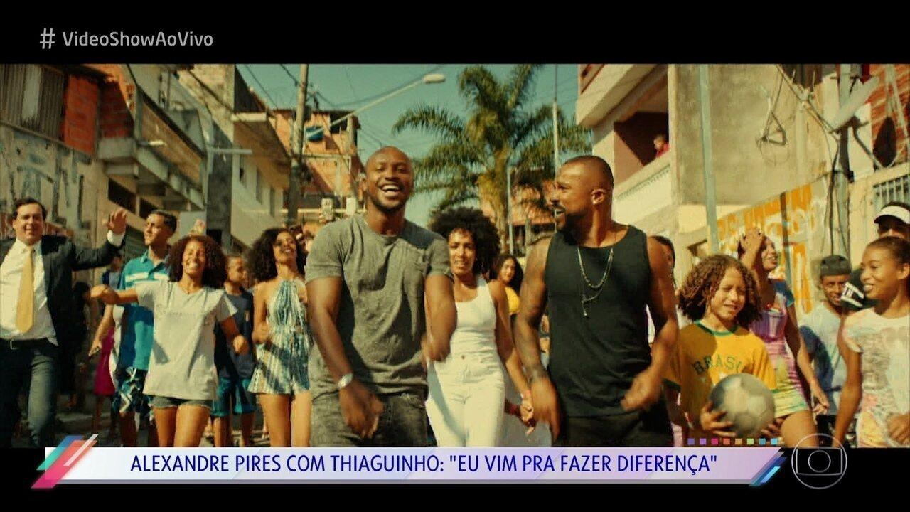 Alexandre Pires e Thiaguinho lançam clipe da música 'Eu Vim Pra Fazer Diferença'