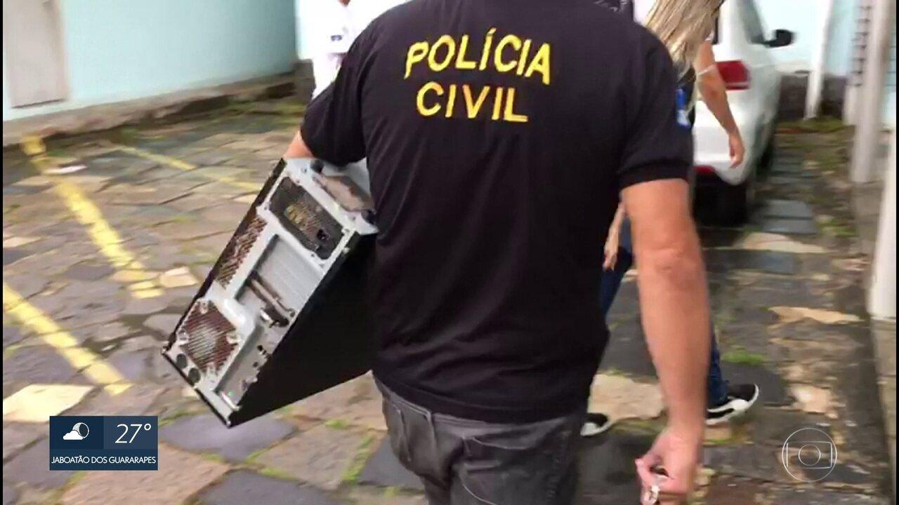 Cinco acusados de crimes de pornografia infantil na internet são presos no Grande Recife