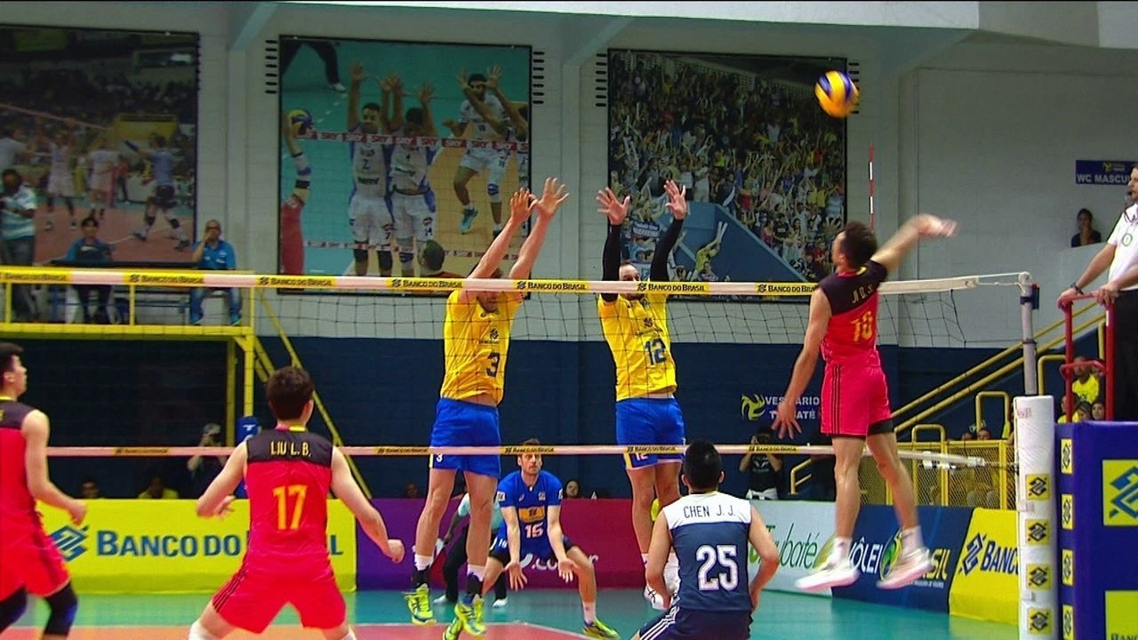 Melhores momentos de Brasil 3 x 0 China pelo Amistoso Internacional de Vôlei  Masculino 2f3b879f40594
