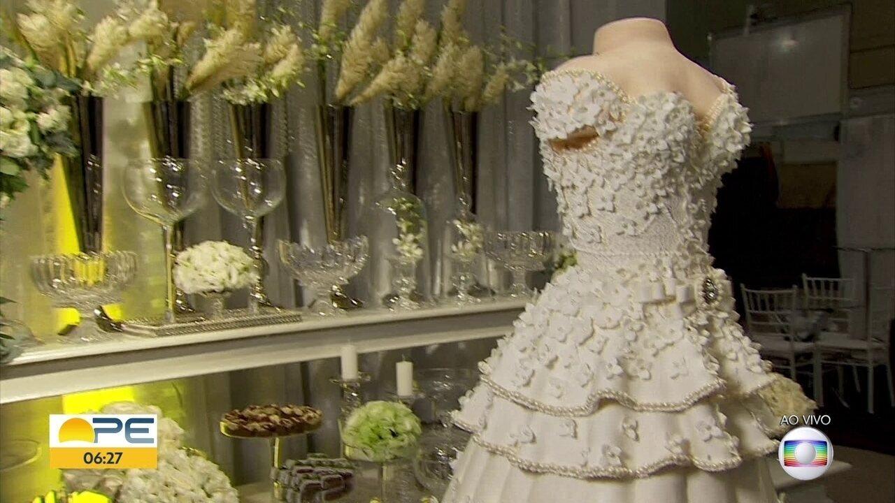 Expo Fashion Noivas reúne tendências para casamentos no Centro de Convenções, em Olinda