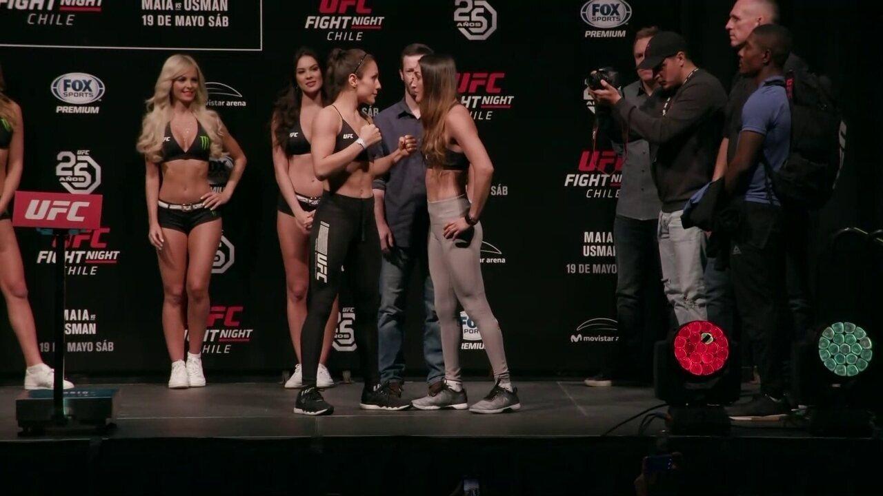 Alexa Grasso e Tatiana Suarez passam pela pesagem do peso-palha no UFC Chile