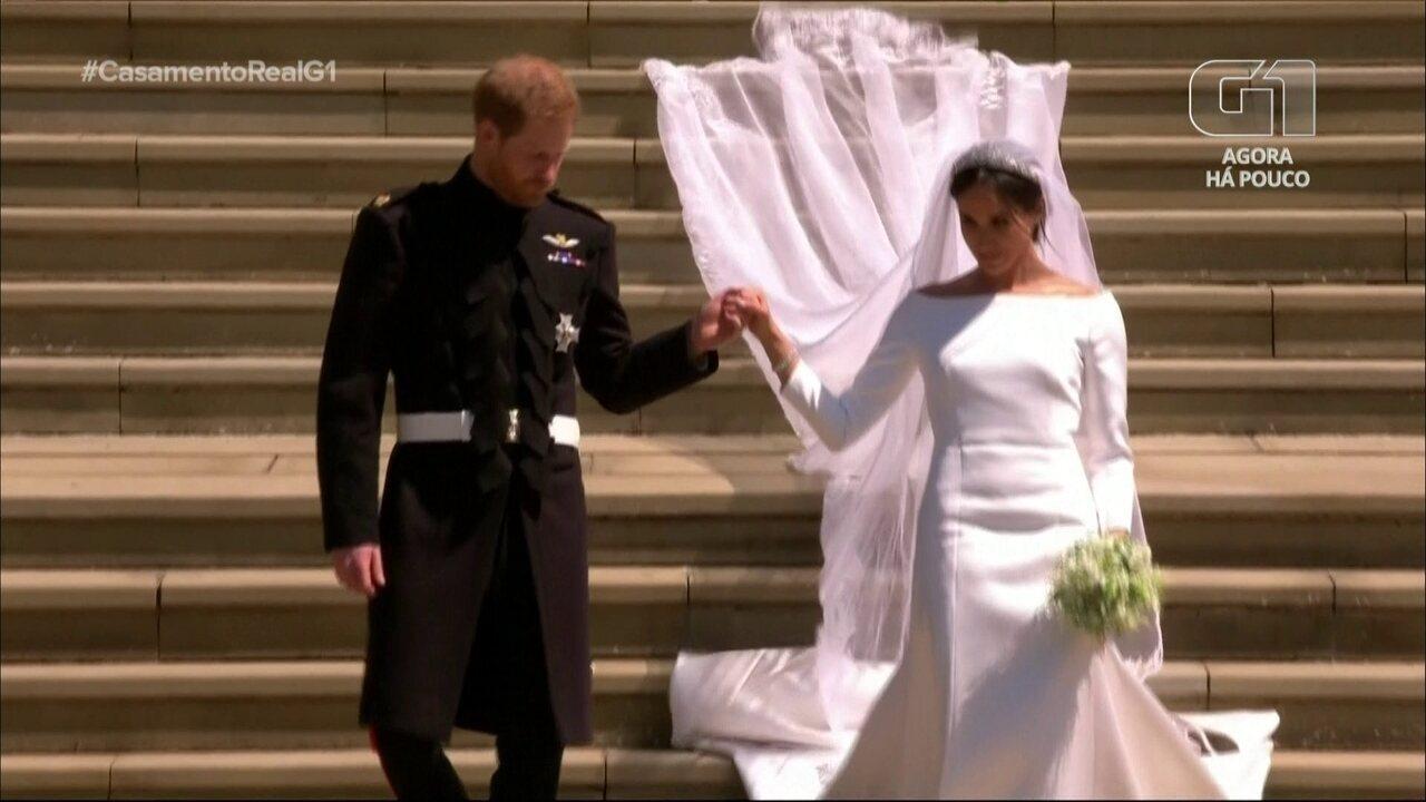 Reveja imagens que marcaram o casamento de Harry e Meghan
