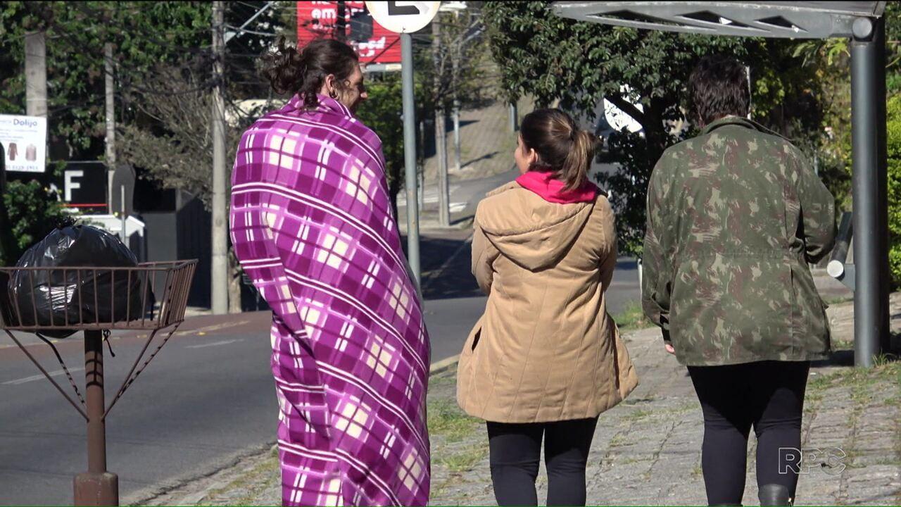 General Carneiro e Lapa amanheceram com temperaturas negativas