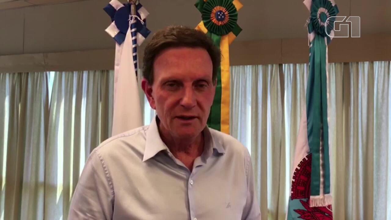Prefeito Marcelo Crivella lamenta a morte do vice Fernando Mac Dowell