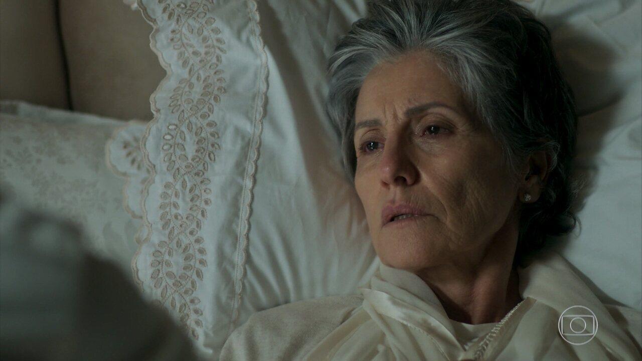 Claudine faz revelação bombástica a Roberval no leito de morte