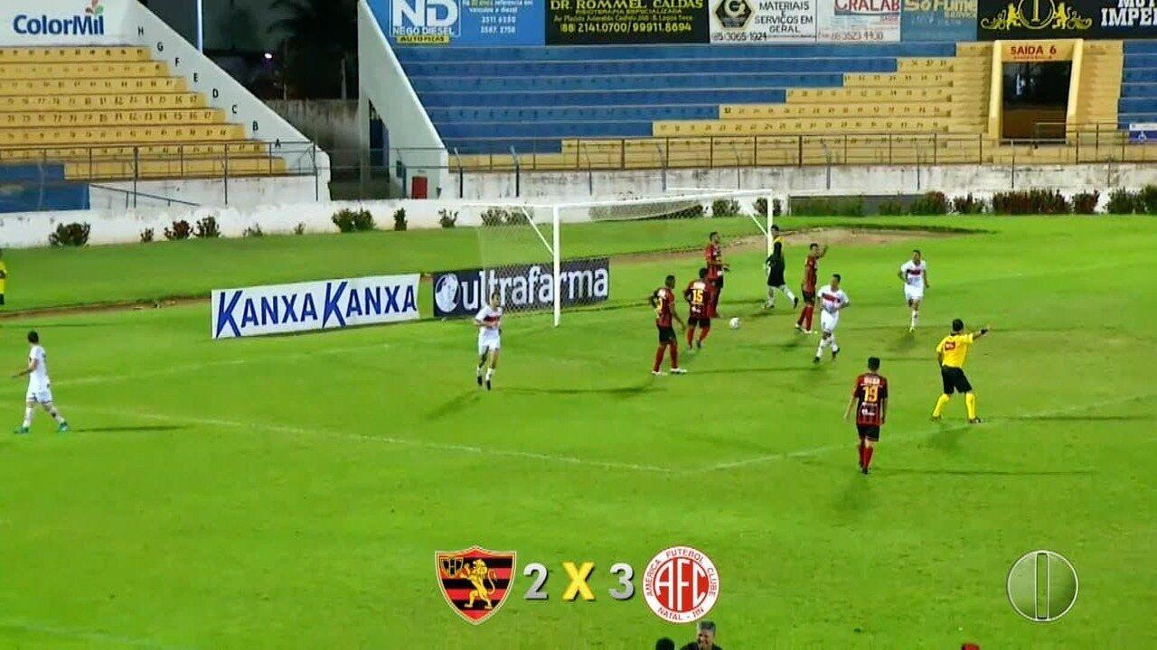 Veja os três gols de Lopeu na vitória sobre o Guarani de Juazeiro