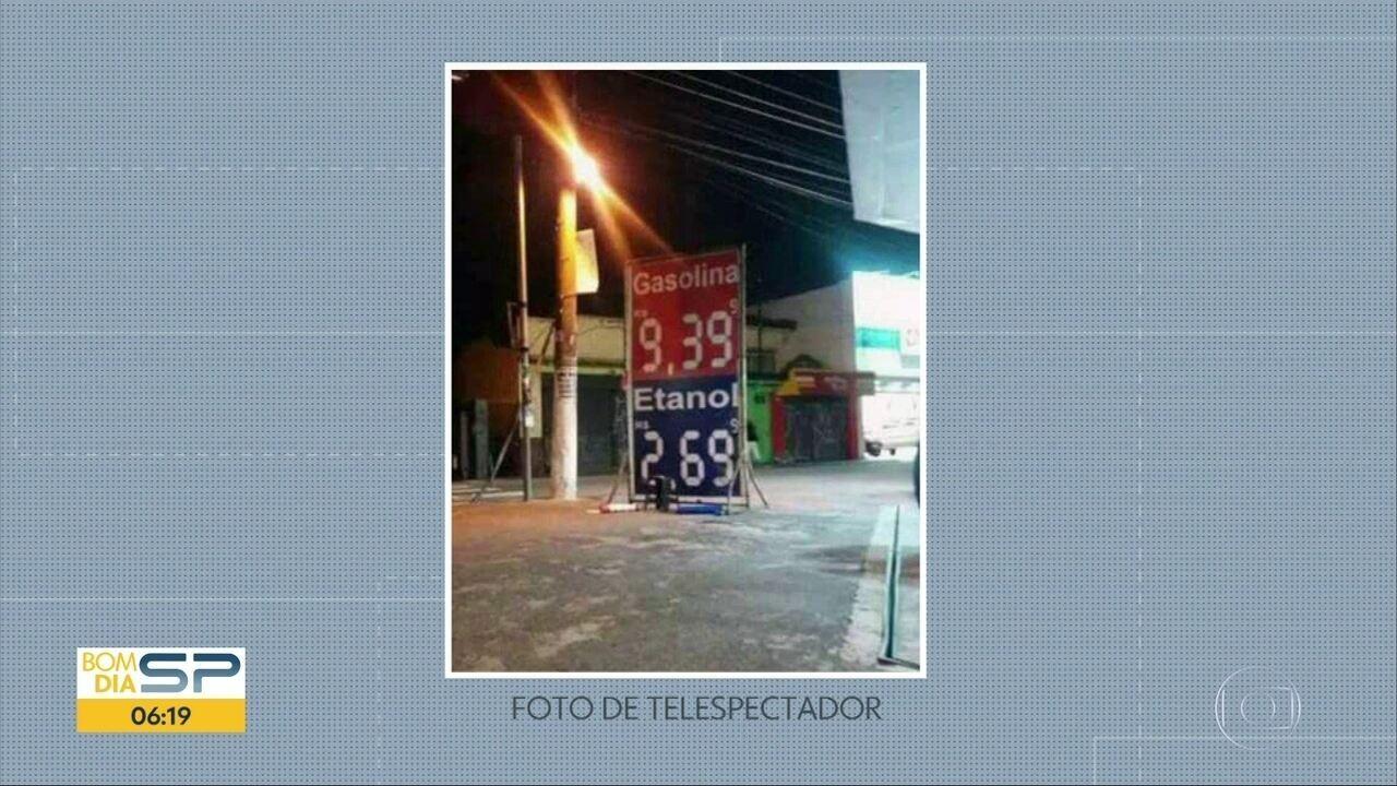 Posto vende gasolina a quase R$ 10,00 na Freguesia do Ó.