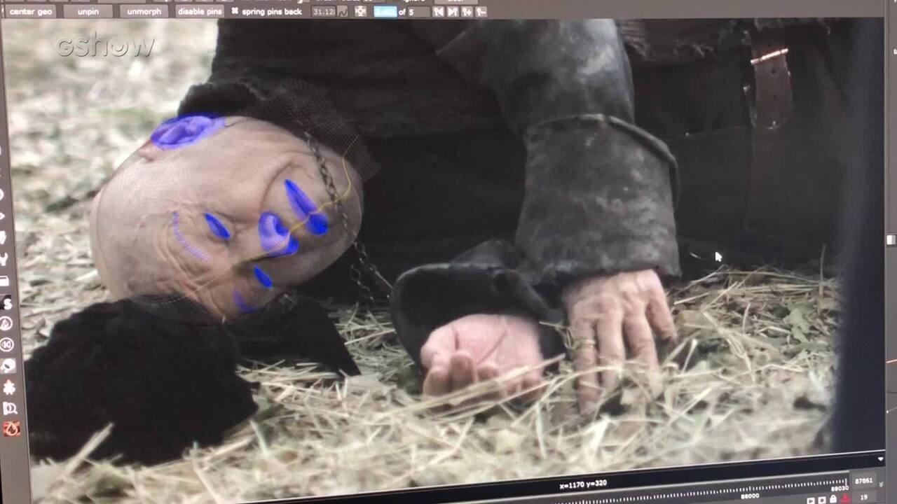 Produção da morte do Inquisidor foi feita com maquiagem digital