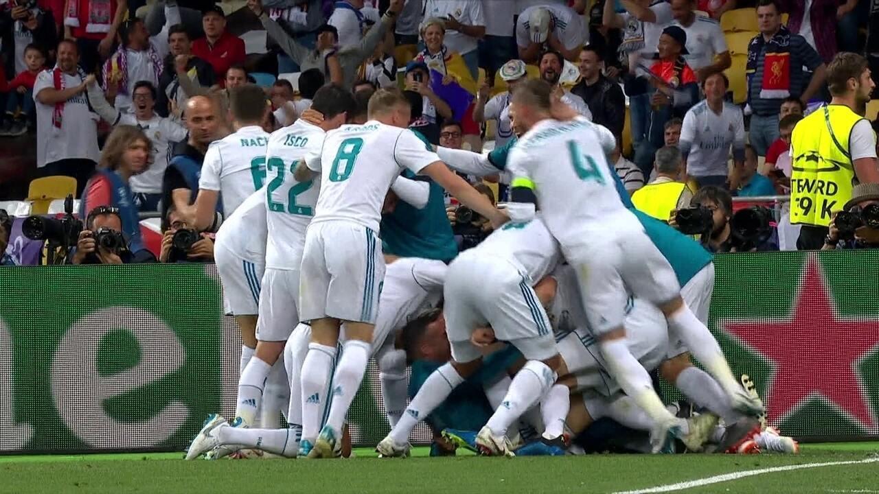 Os gols de Real Madrid 3 x 1 Liverpool pela final da Liga dos Campeões da UEFA