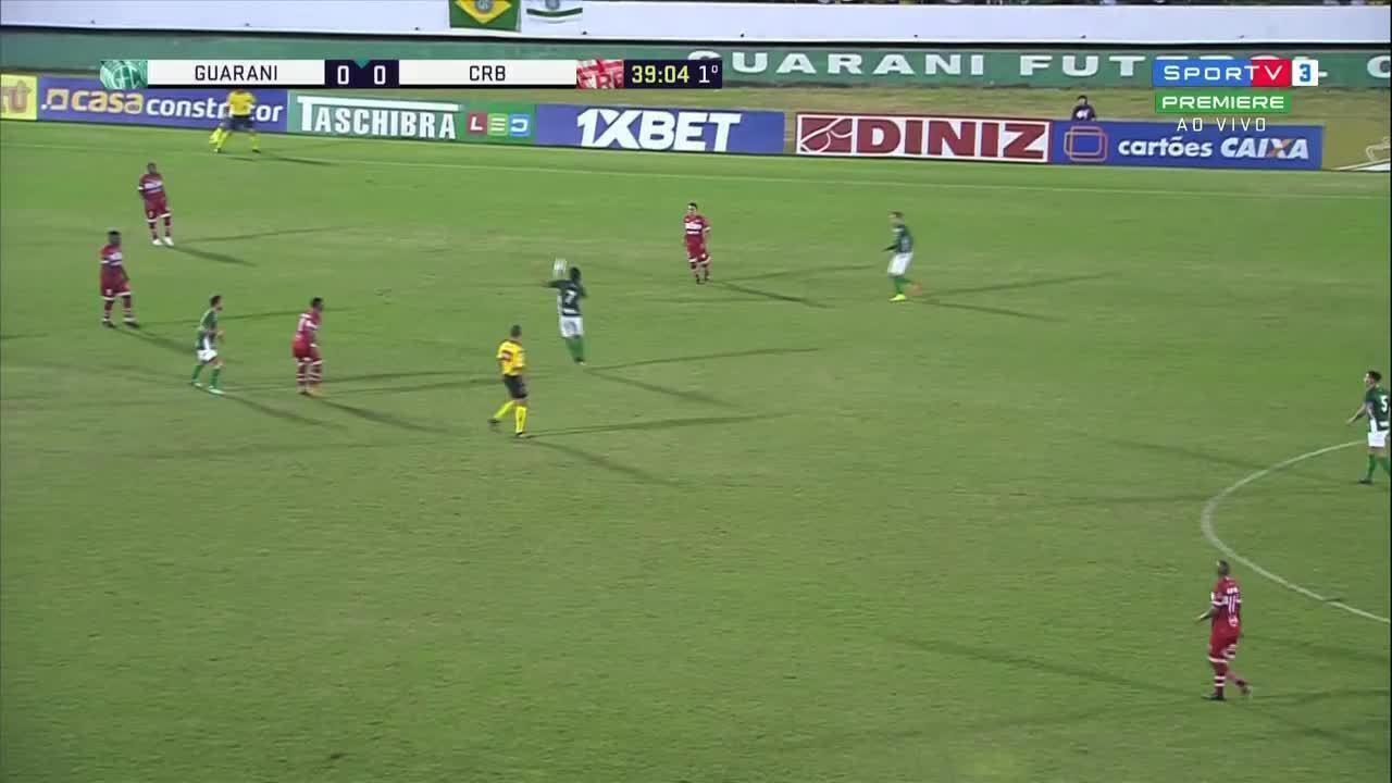 Os gols de Guarani 2 x 0 CRB pela 7ª rodada da Série B