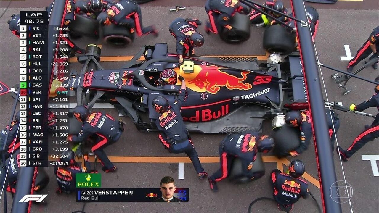 Verstappen é mais um que vai para o pit stop
