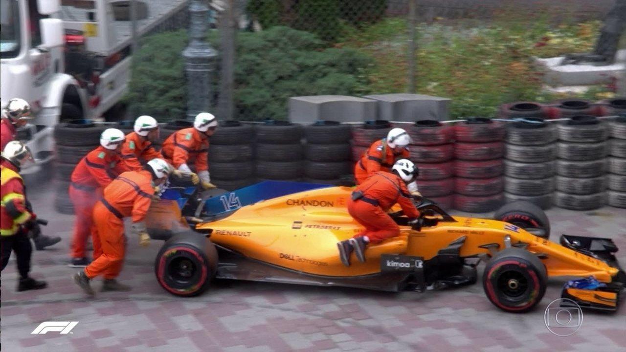 Fernando Alonso tem problemas no carro e deixa o GP de Mônaco